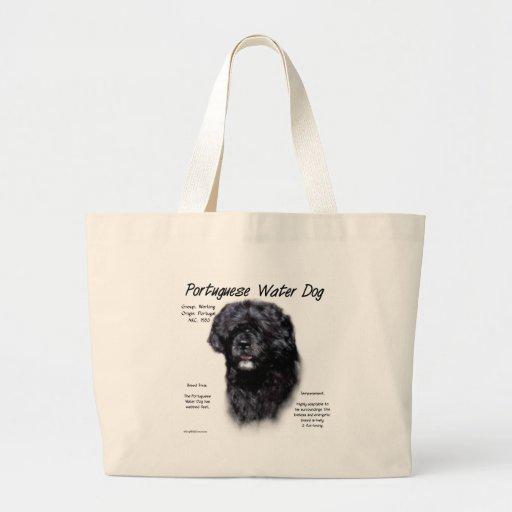 Portuguese Water Dog History Design Tote Bag