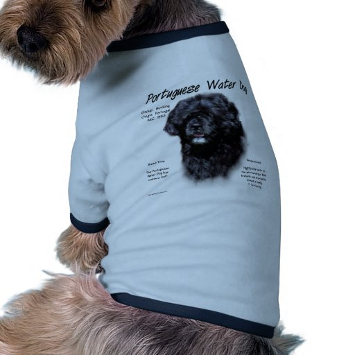Portuguese Water Dog History Design Doggie Tee Shirt