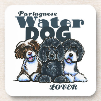Portuguese Water Dog Lover Beverage Coasters