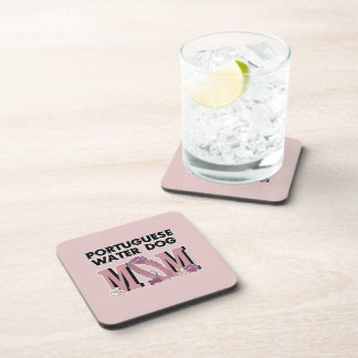 Portuguese Water Dog MOM Drink Coasters