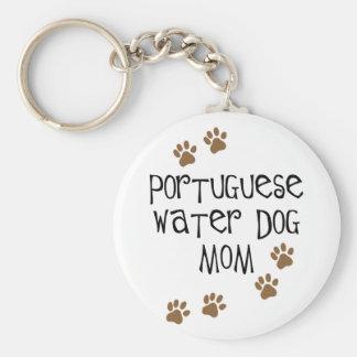 Portuguese Water Dog Mom Key Ring