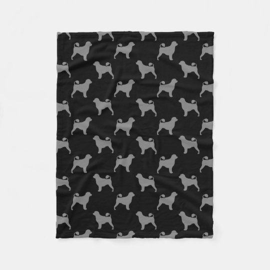 Portuguese Water Dog Silhouettes Pattern Fleece Blanket