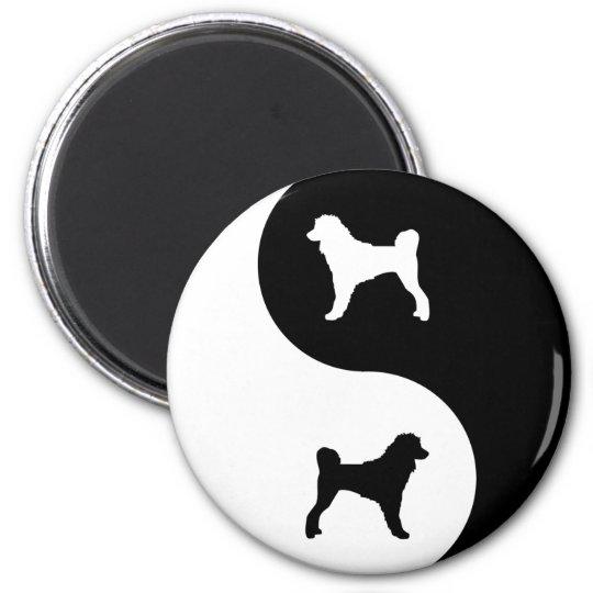 Portuguese Water Dog Yin Yang Magnet
