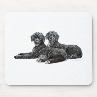 Portuguese Water Dogs Mouse Mat