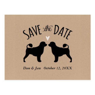 Portuguese Water Dogs Wedding Save the Date Postcard