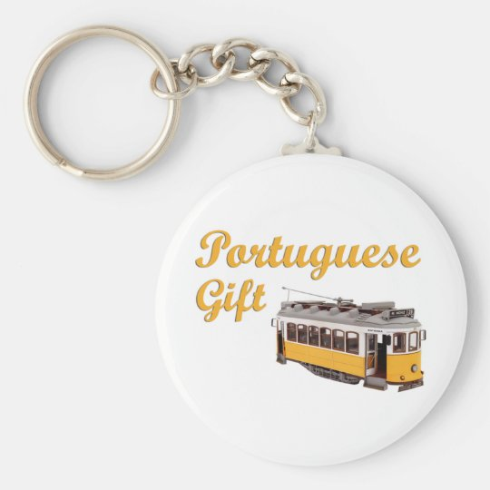 portuguesegift basic round button key ring
