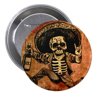 "Posada Button, ""the get away"" 7.5 Cm Round Badge"