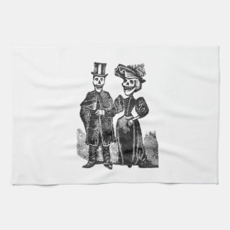 Posada Skeleton Couple Tea Towel