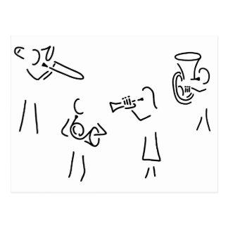 posaunist trompeter more blechblaeser postcard