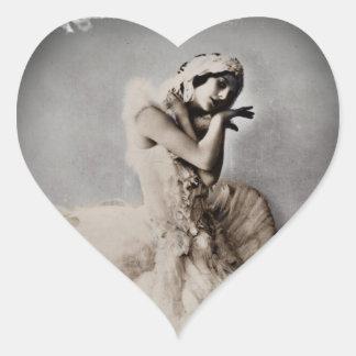 Posed en Pointe Heart Sticker