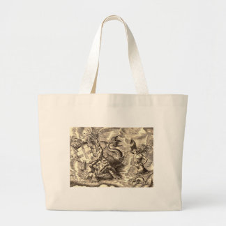 Poseidon at Sea Canvas Bag