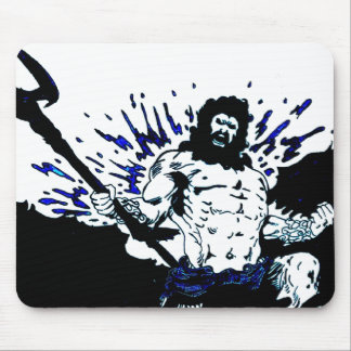 Poseidon! Dark black and blue Mouse Pad