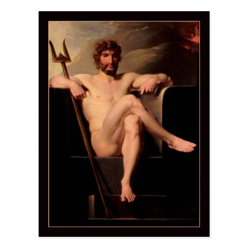 Poseidon Enthroned by Heinrich Fuger Postcards