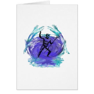 Poseidon God of the Sea 1 Card
