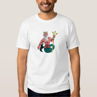 Poseidon, Greek God of the Sea Holding Trident Shirts