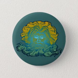 Poseidon Neptune 6 Cm Round Badge