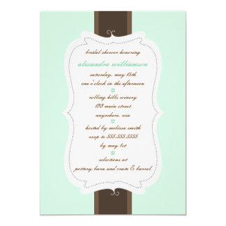 Posh Bridal Shower Invitation {Mint & Choc Chip}