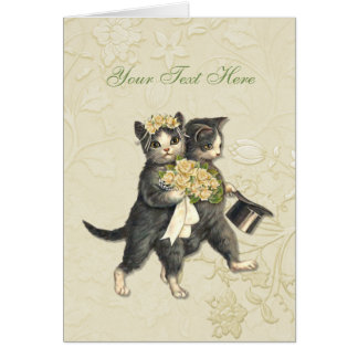 Posh Cats Wedding Card
