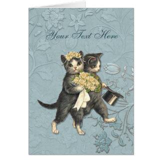 Posh Cats Wedding Greeting Card