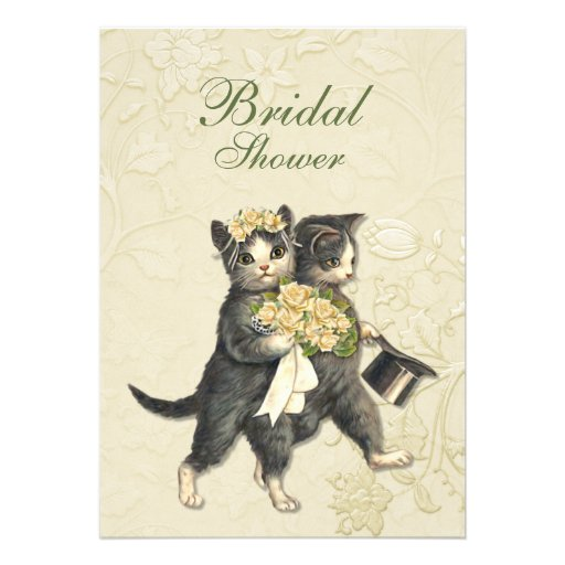 Posh Cats Wedding Custom Invitations