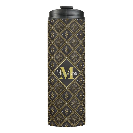 Posh Dollar Signs Thermal Tumbler