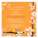 Posh Kissing Birds Surprise 25th Anniversary Party Custom Invites