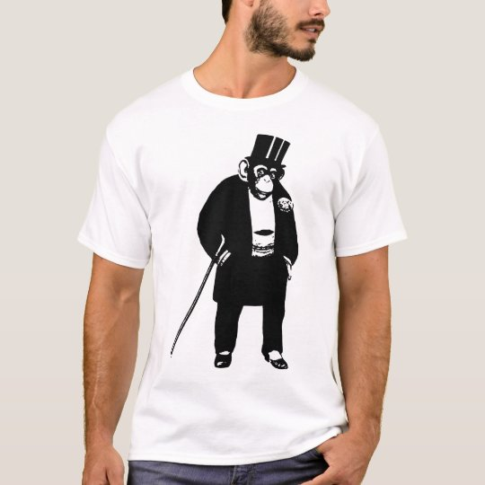 Posh Monkey T-shirt - Chimp In A Dinner Suit
