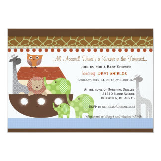 Posh Noahs Ark Invitation