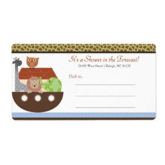 Posh Noah's Ark Mailing Labels