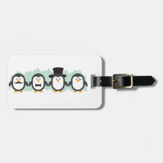 Posh Penguins Luggage Tag
