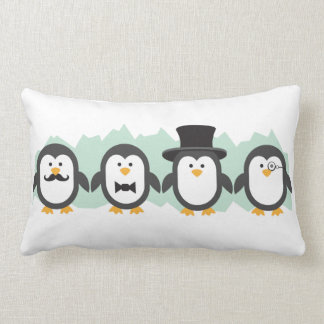 Posh Penguins Lumbar Cushion