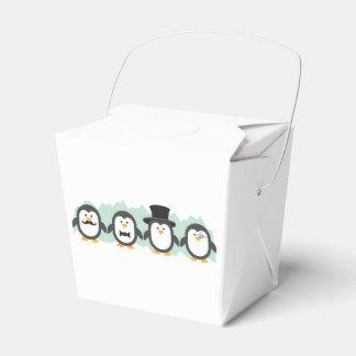 Posh Penguins Wedding Favour Box