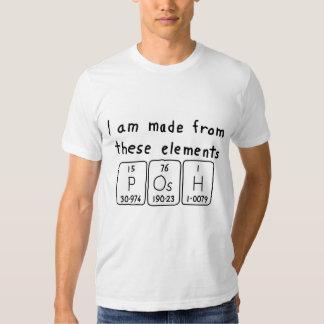 Posh periodic table name shirt