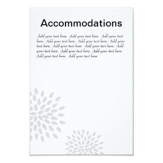 Posh Petals | Silver | Accommodations Insert 9 Cm X 13 Cm Invitation Card