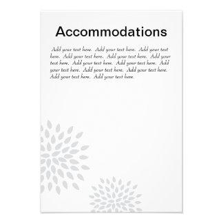 Posh Petals | Silver | Accommodations Insert Personalized Invites