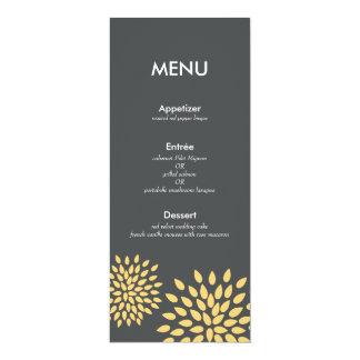 Posh Petals | Sunshine | Reception Menu Card 10 Cm X 24 Cm Invitation Card