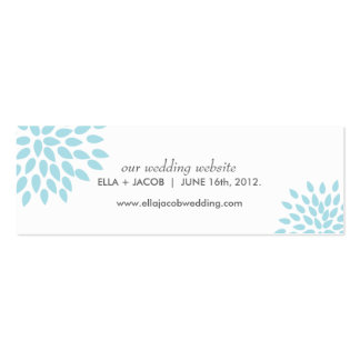 Posh Petals Twilight Wedding Website Cards Business Card Templates