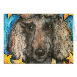 Posh Poodle Greeting Card