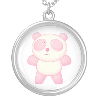 Posie the Panda Bear Cute Cartoon Animal Silver Plated Necklace