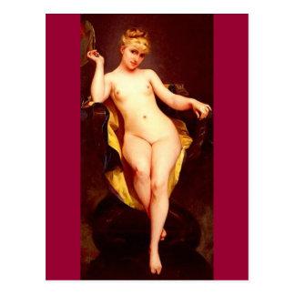 Posing Girl - Falero Postcard