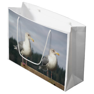 Posing Seagulls Photo Large Gift Bag