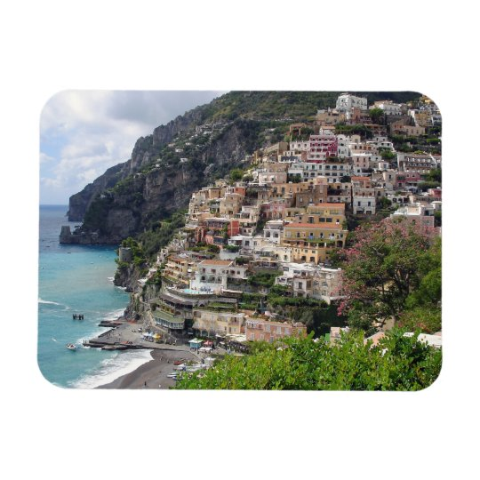 Positano at the Amalfi coast rectangle magnet