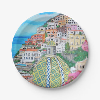 "Positano - Custom Paper Plates 7"""