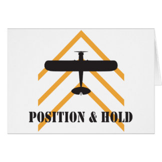 Position And Hold Airplane Greeting Cards