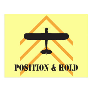 Position And Hold Airplane Postcard