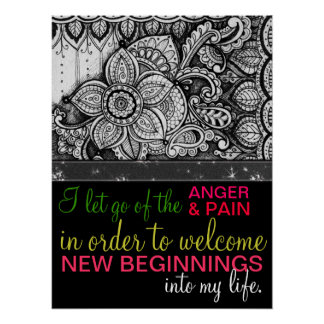 Positive Affirmation Forgiveness Healing Energy Poster