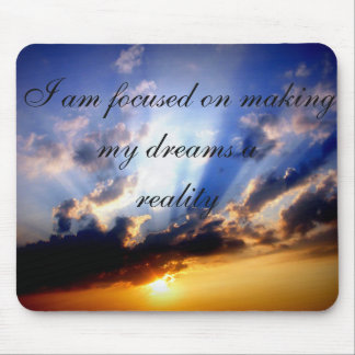 Positive Affirmation motivation about Dreams Mouse Mat