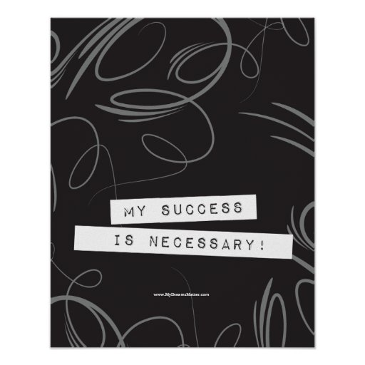 Positive Affirmation Success Successful Wealthy Poster