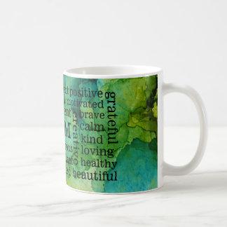 Positive Affirmations I AM Statements Coffee Mug