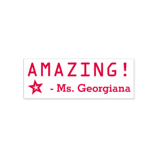"Positive ""AMAZING!"" Grading Rubber Stamp"